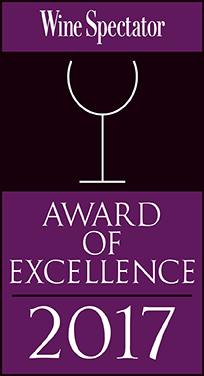 Caffe Itri is a Wine Spectator Award Recipient, 2003-2017