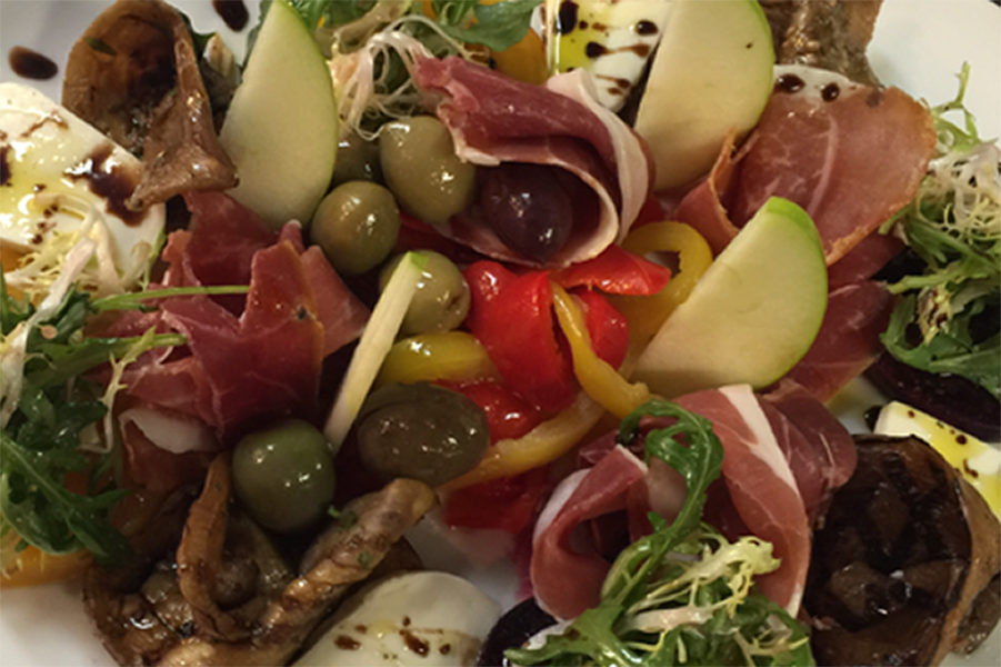 Antipasti with the freshest local and imported ingredients