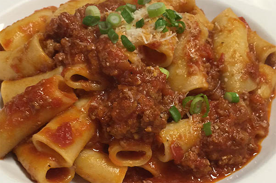 Rigatoni and House Made Bolognese Sauce