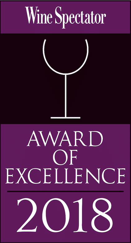 Caffe Itri Receives Wine Spectator Award of Excellence for 2018