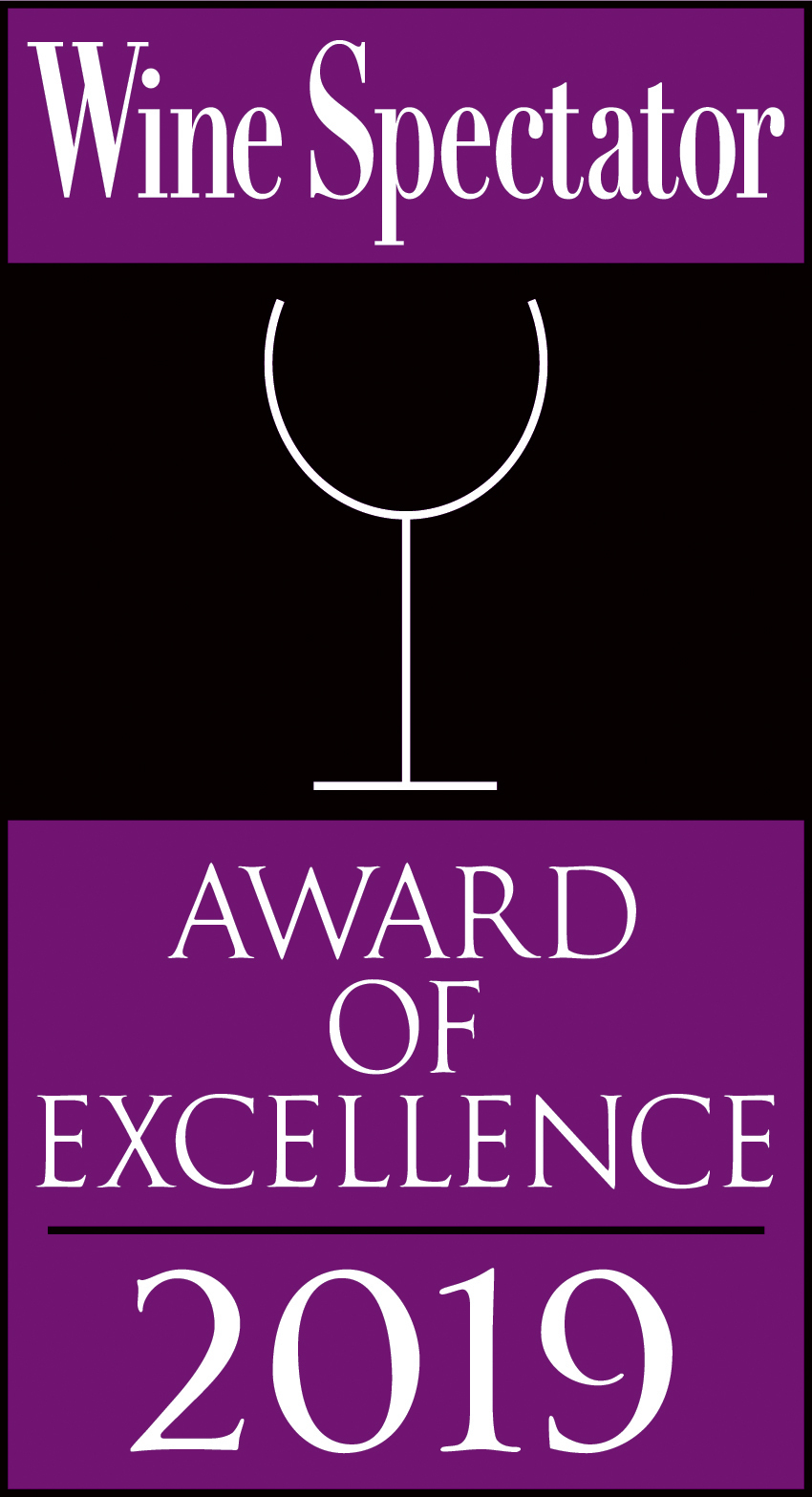 Caffe Itri has received the Wine Enthusiast Award of Excellence Every Year Since 2003