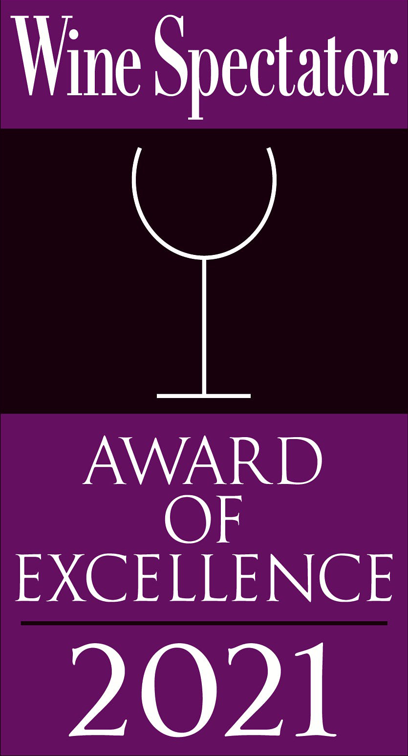 Caffe Itri Wine Spectator Award of Excellence 2021